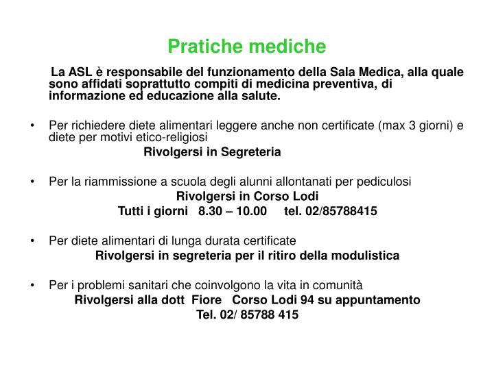 Pratiche mediche