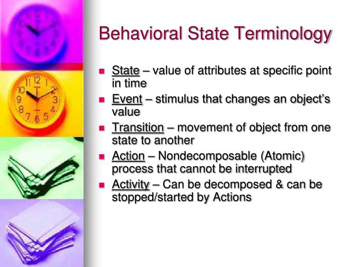 Behavioral State Terminology