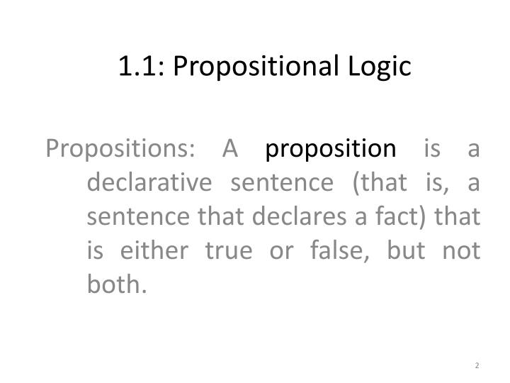 1 1 propositional logic