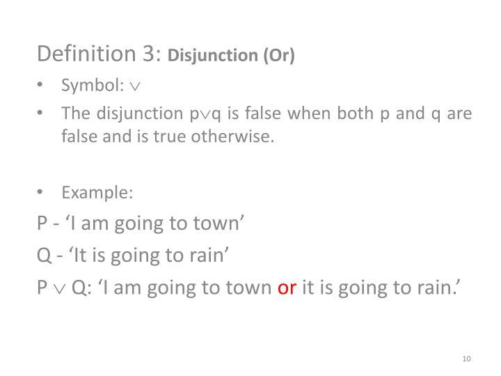Definition 3: