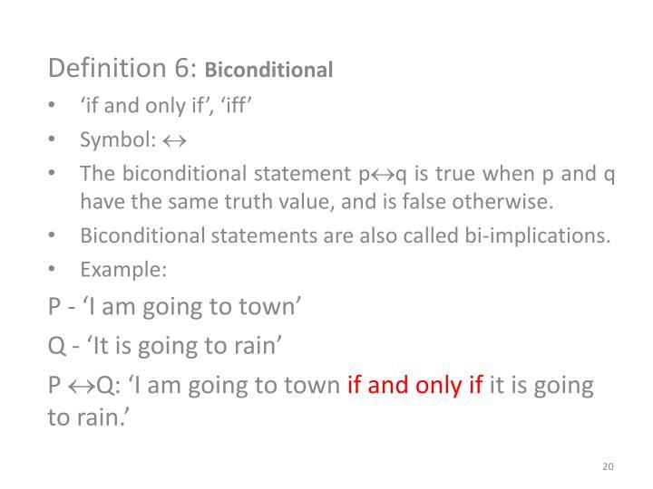 Definition 6: