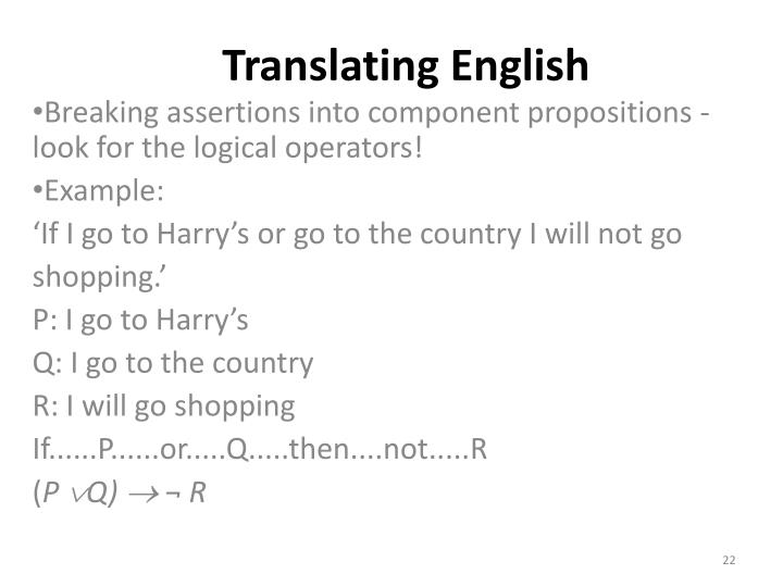 Translating English