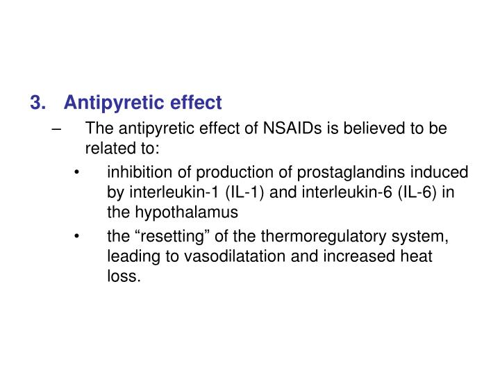 Antipyretic effect