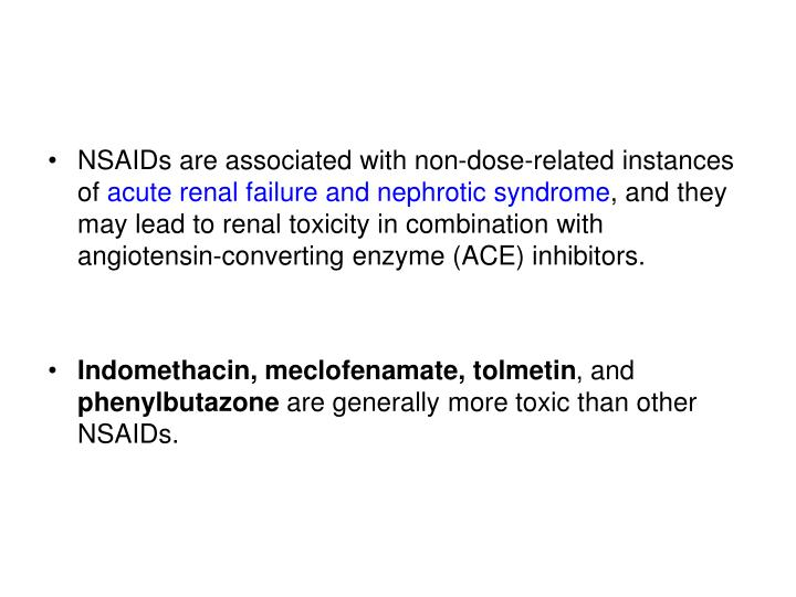NSAIDs are associated with non-dose-related instances of