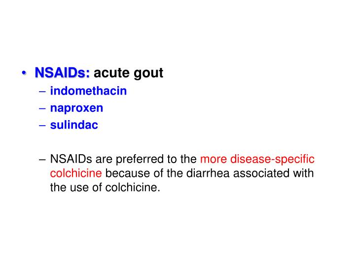 NSAIDs: