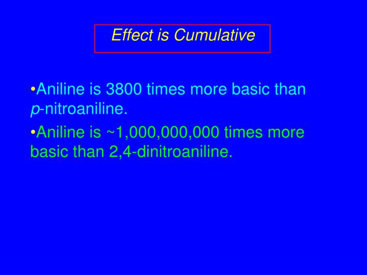 Effect is Cumulative