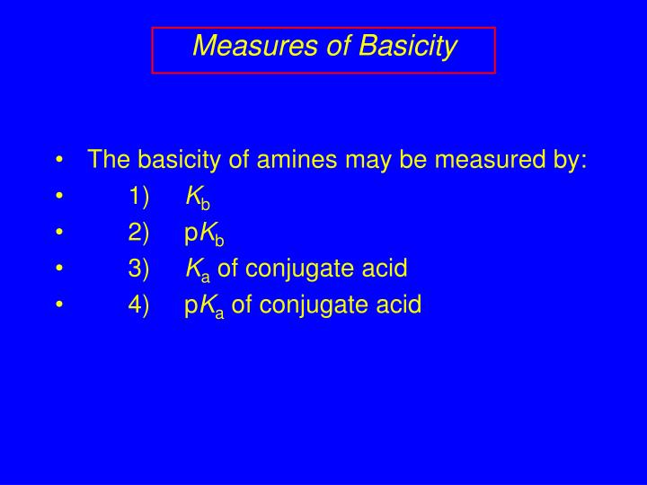 Measures of Basicity