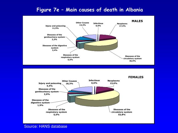 Figure 7e – Main causes of death in Albania