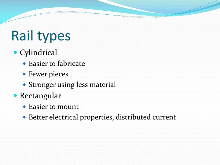 Rail types