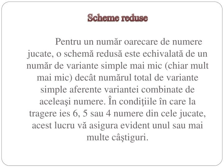 Scheme reduse