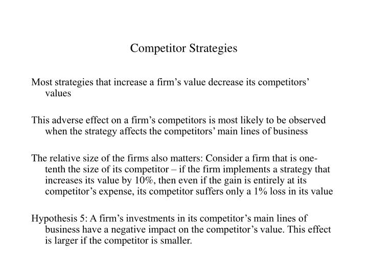 Competitor Strategies