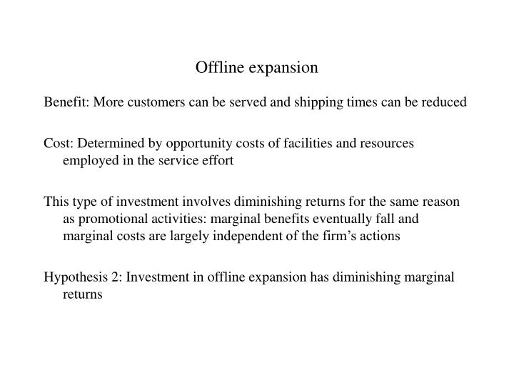 Offline expansion