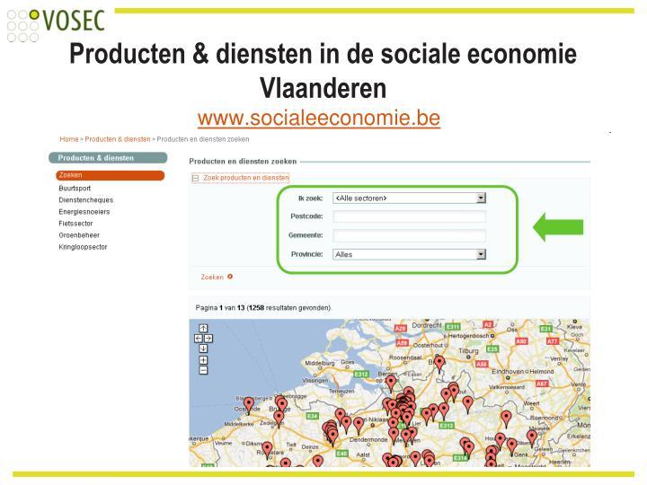 Producten & diensten in de sociale economie