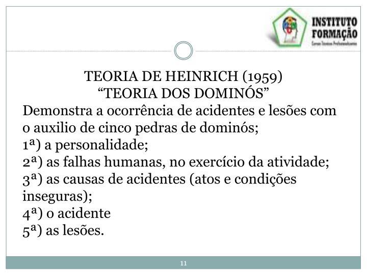 TEORIA DE HEINRICH (1959)