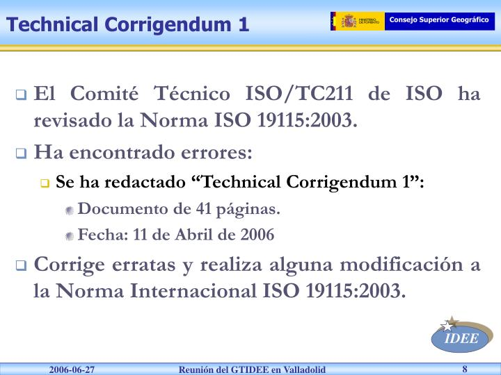 Technical Corrigendum 1