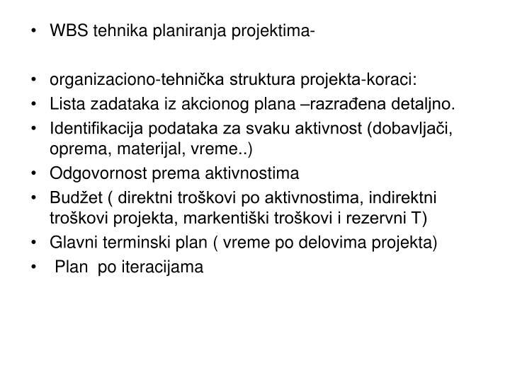 WBS tehnika planiranja projektima-