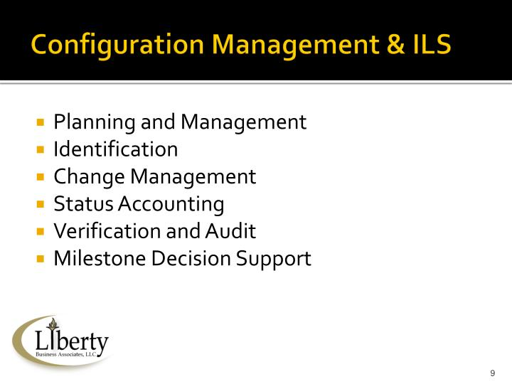 Configuration Management & ILS