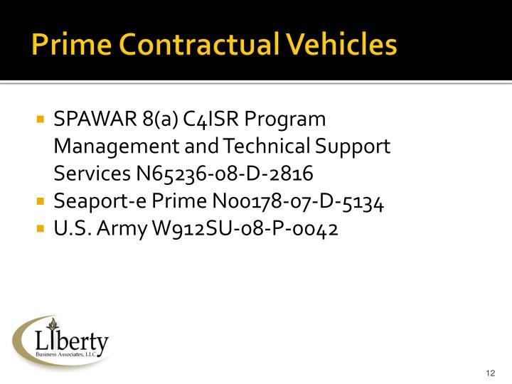 Prime Contractual Vehicles