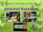 chapter 5 examples of hold ups
