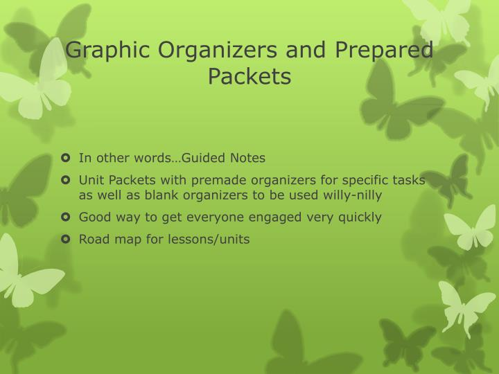 Graphic Organizers and Prepared Packets