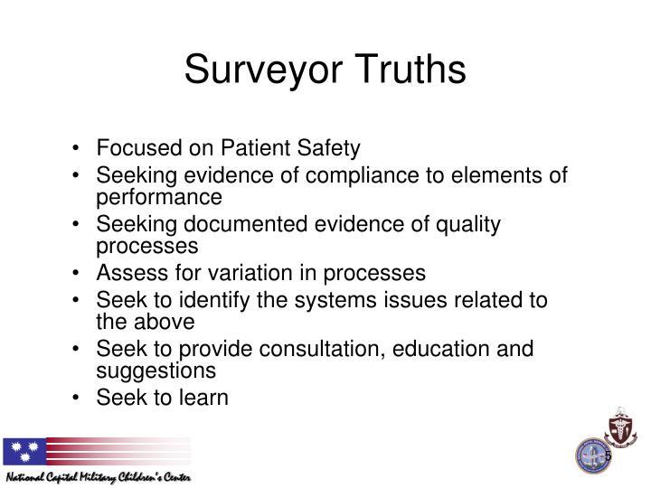 Surveyor Truths