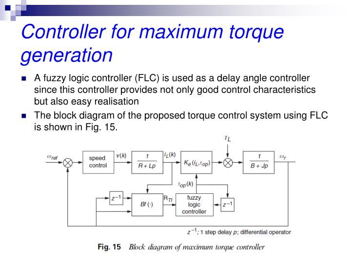 Controller for maximum torque generation