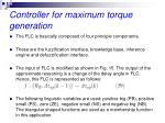 controller for maximum torque generation7