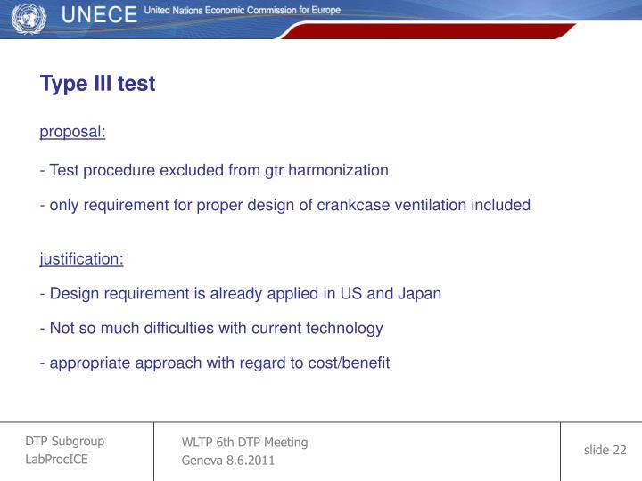 Type III test