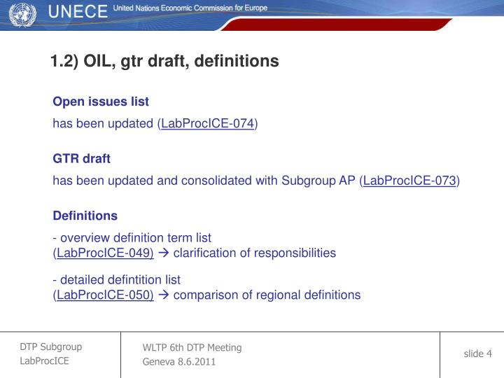 1.2) OIL, gtr draft, definitions