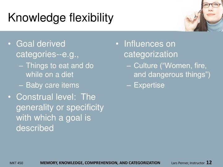 Knowledge flexibility