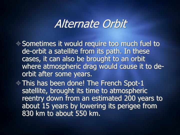 Alternate Orbit