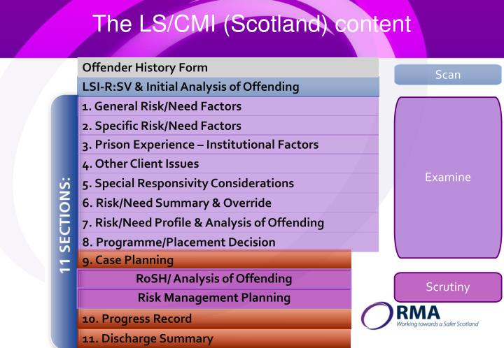 The LS/CMI (Scotland) content