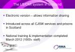 the ls cmi system in scotland