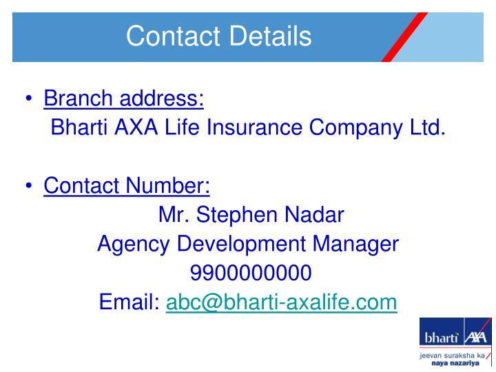 Branch address: