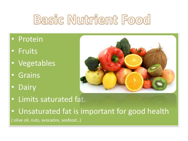 Basic Nutrient Food