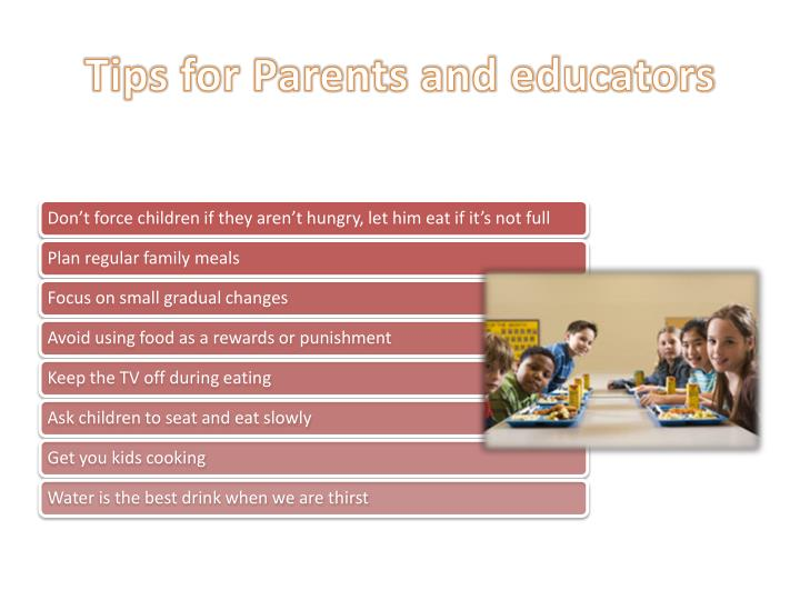Tips for Parents and educators