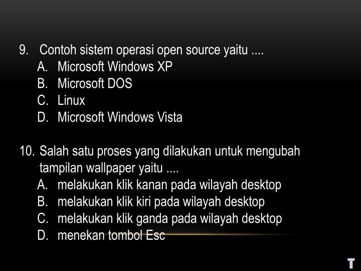 Contoh sistem operasi open source yaitu ....