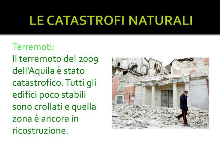 Terremoti: