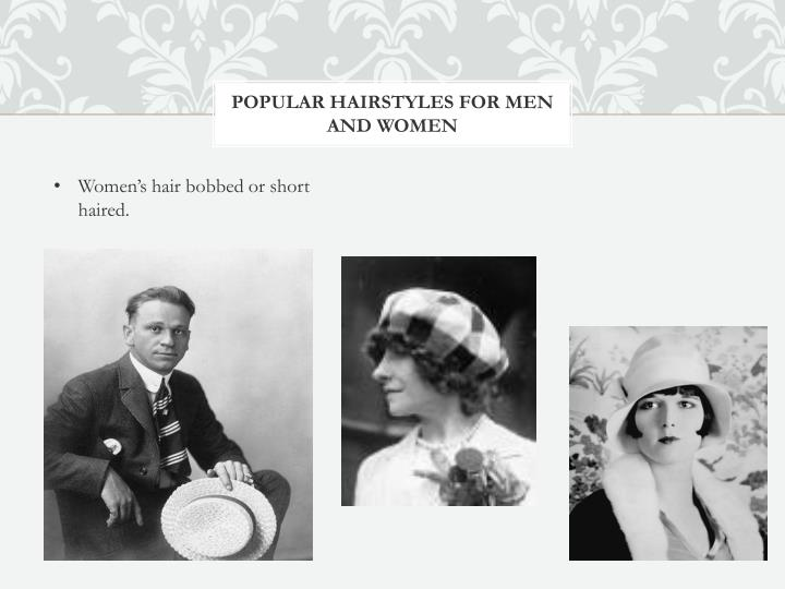 Popular hairstyles for men and women