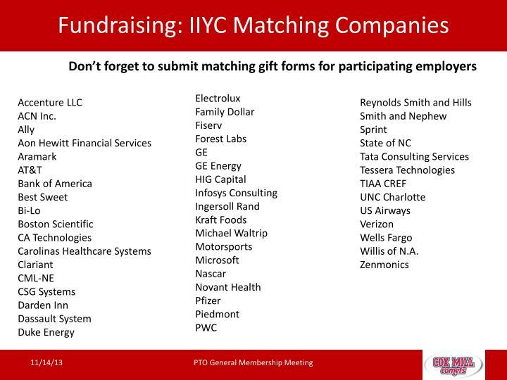 Fundraising: IIYC
