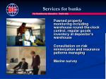 services for banks