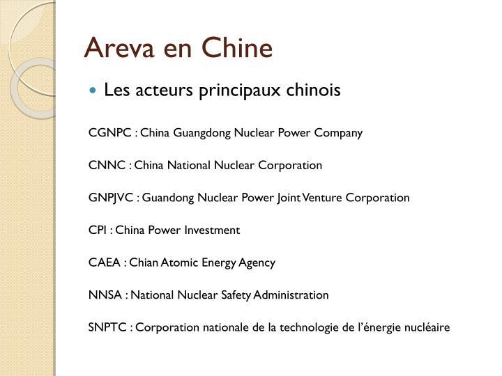 Areva en Chine
