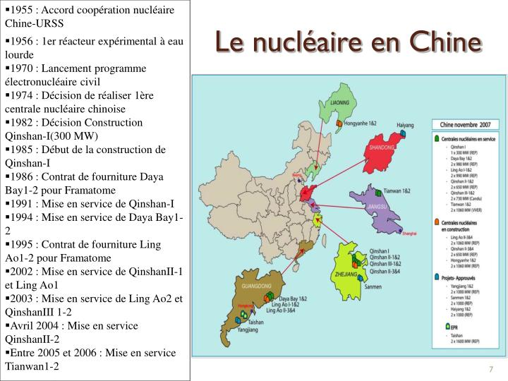 1955 : Accord coopération nucléaire Chine-URSS