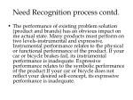need recognition process contd12