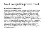 need recognition process contd5