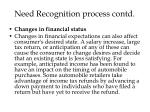 need recognition process contd6