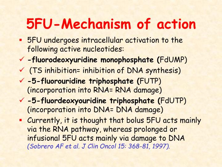 5FU-Mechanism of action