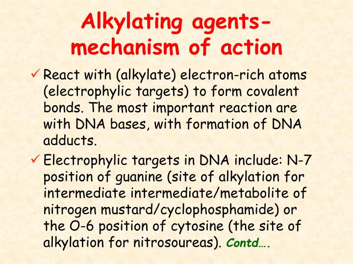 Alkylating agents-mechanism of action