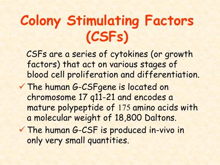 Colony Stimulating Factors (CSFs)