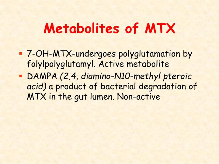 Metabolites of MTX